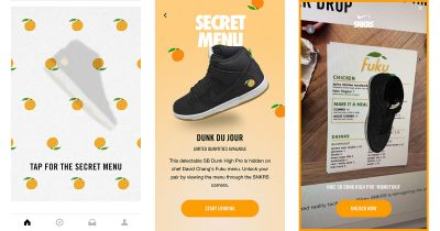 Nike uses SNKRS iPhone app and augmented reality to promote new shoes