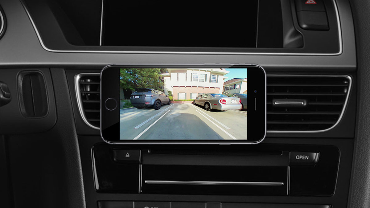 pearl rearvision dashboard iphone