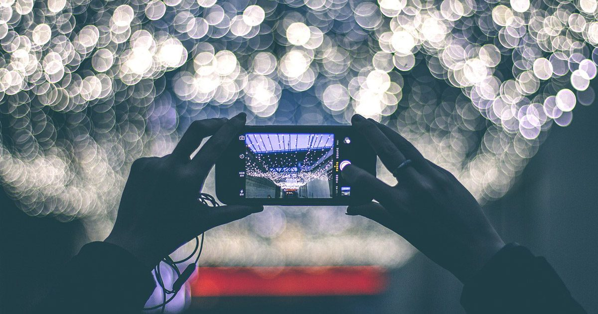 A picture of a smartphone taking a picture