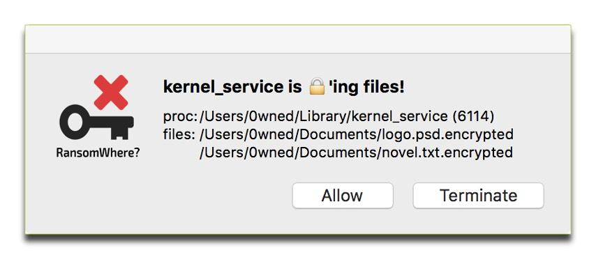 Screenshot of Ransomwhere, one of five Mac security tools we recommend.