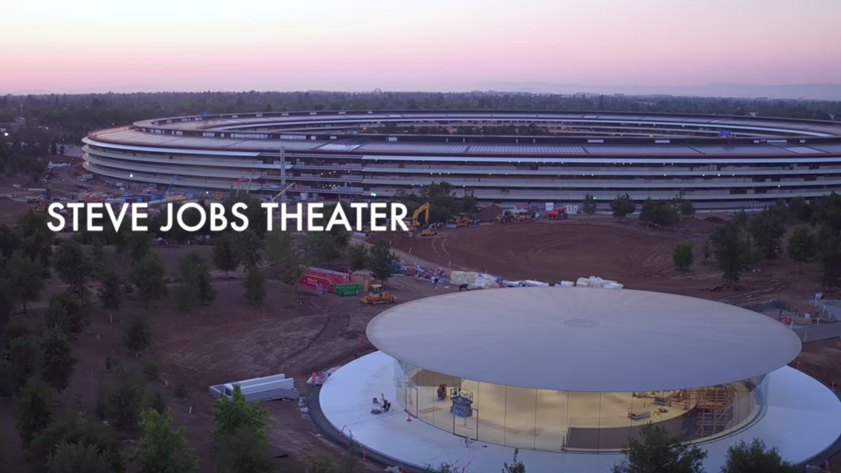 Steve Jobs Theater Shown In Latest Apple Park Drone Footage