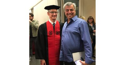 Tim Cook and Eddy Cue at MIT Commencement Address