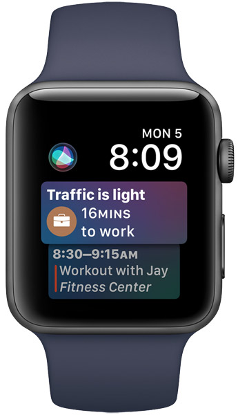watchOS 4 Siri Watch Face