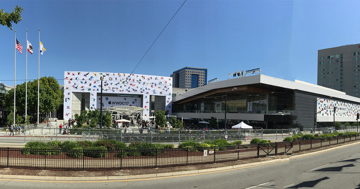 Apple's Worldwide Developer Conference at the McEnery Convention Center in San Jose