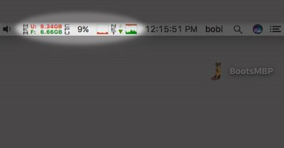 iStat Menus in Dr. Mac's menu bar...