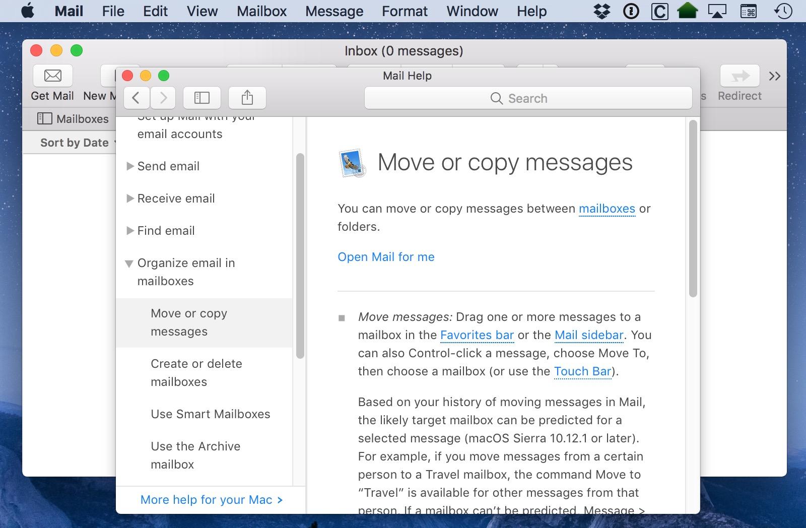 Mac Help Window blocking other apps on the Desktop