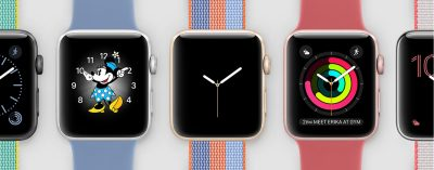 Image of series 0 Apple Watches.