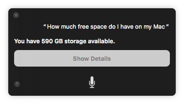 How much free space do I have on my Mac?