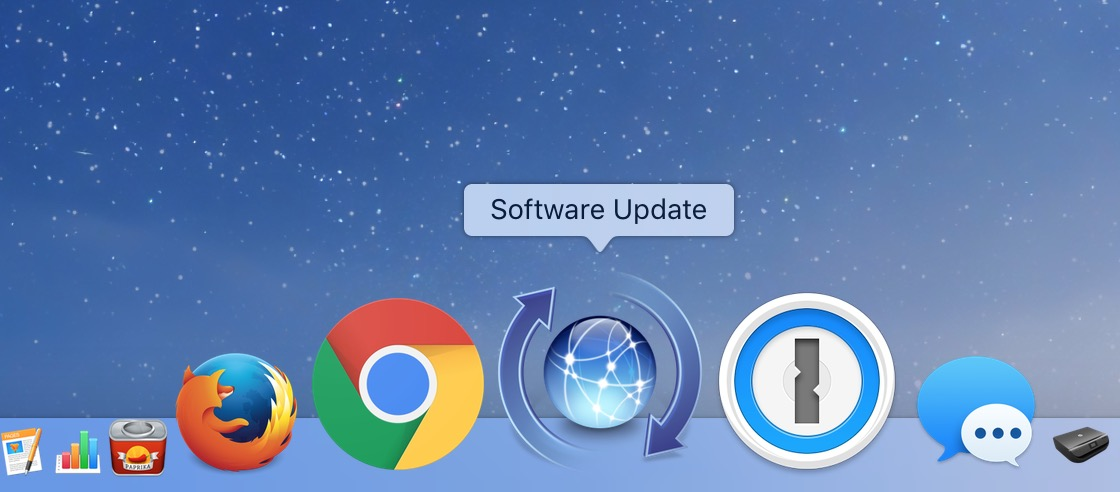macOS Software Update Dock Icon