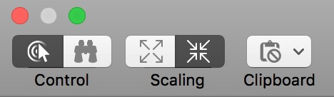 Messages screen sharing Toolbar Icons