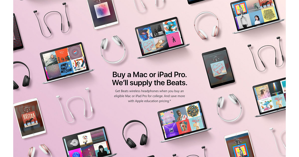 Apple Launches Back to School Promo in Europe with Free Beats Headphones