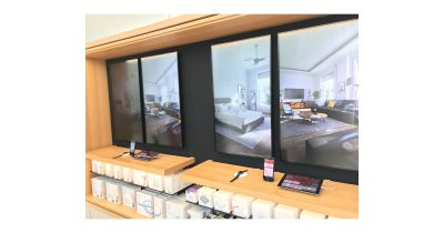 HomeKit and smart home demo station in Apple Store