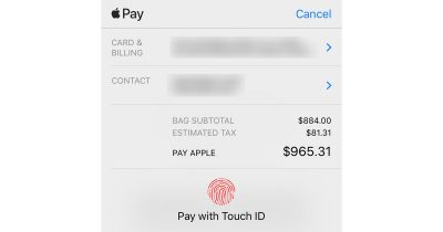 Apple Store purchase using Touch ID