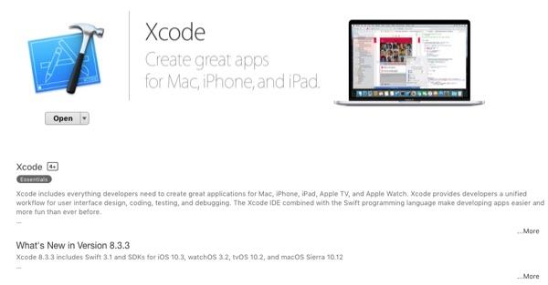 Xcode in Mac App Store