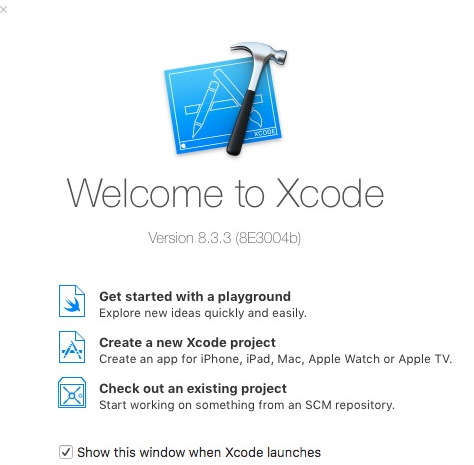 Welcome to Xcode.