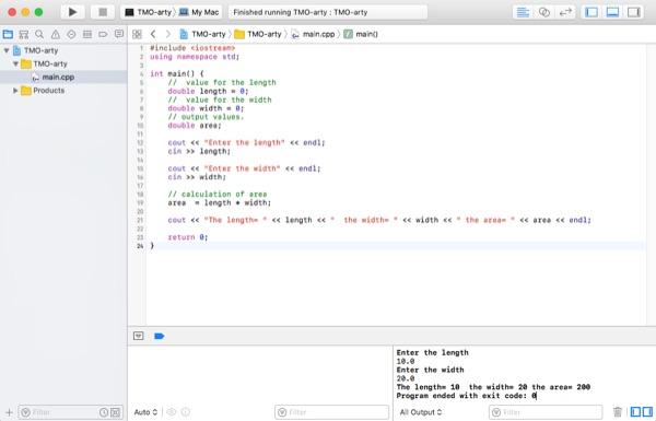 C++ in Xcode