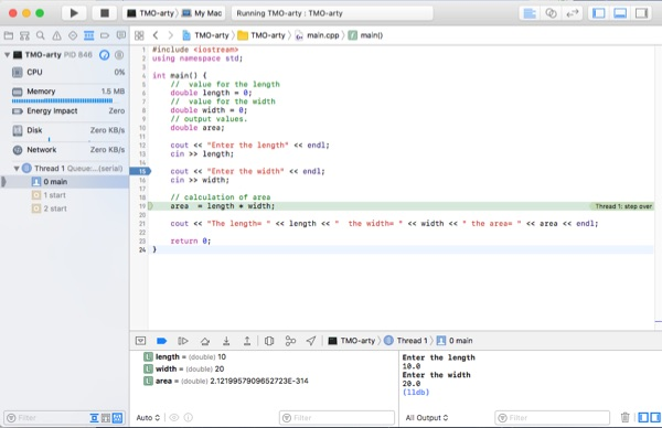Xcode debug with breakpoint.