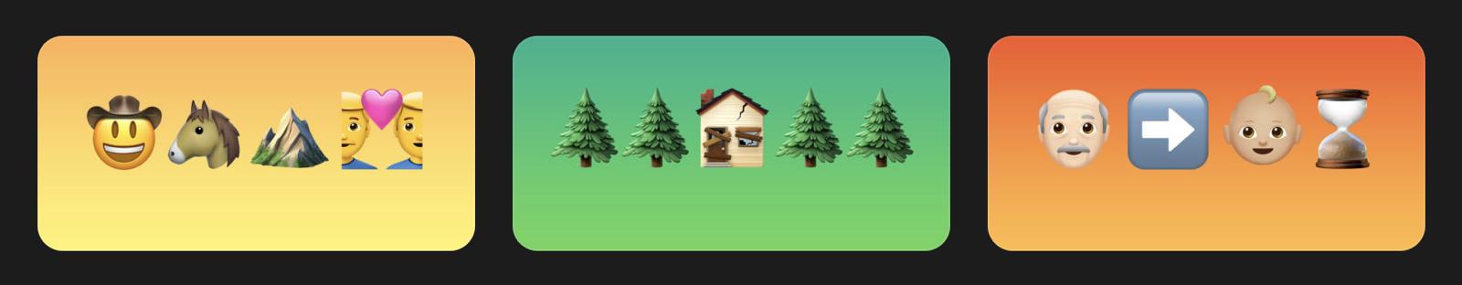 Image of iTunes movies in emojis.