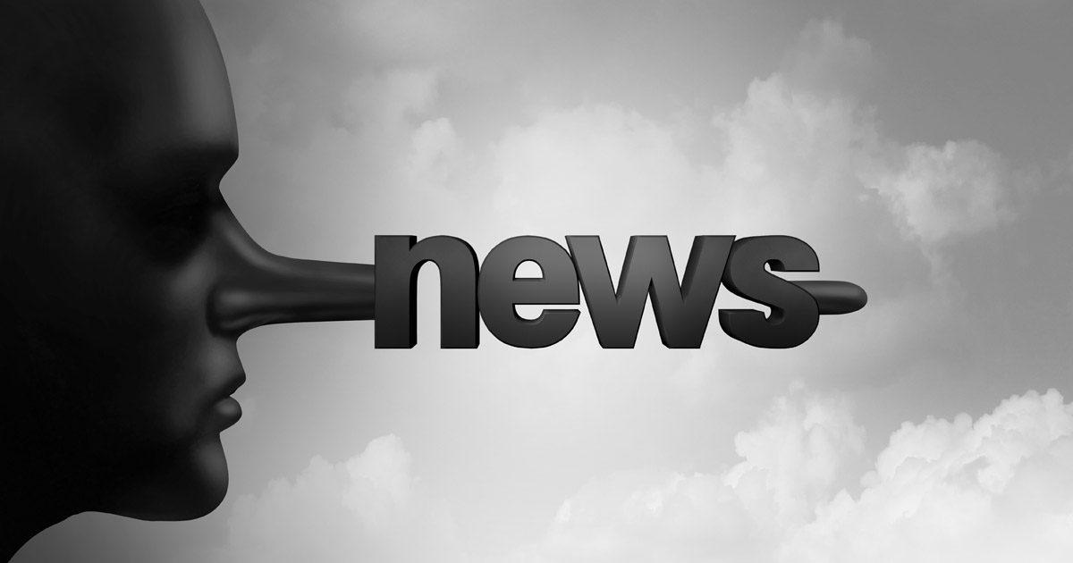 "Fake News - Pinocchio nose with ""news"""