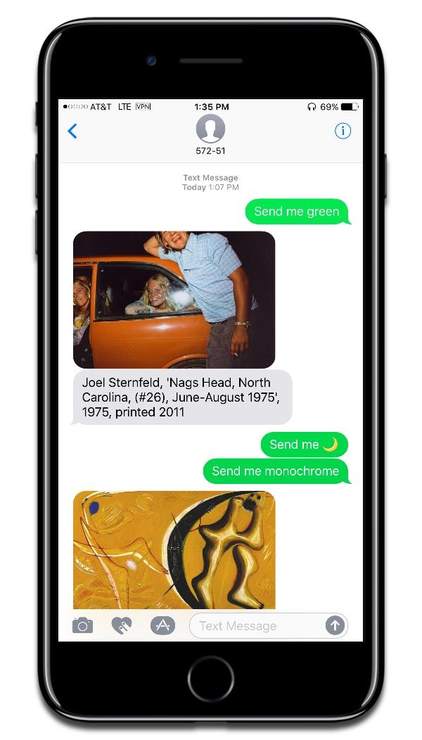 Screenshot of SFMOMA chatbot conversation.