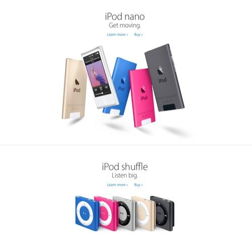 iPad nano and shuffle