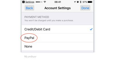 Apple Music, iTunes, App Store add PayPal support