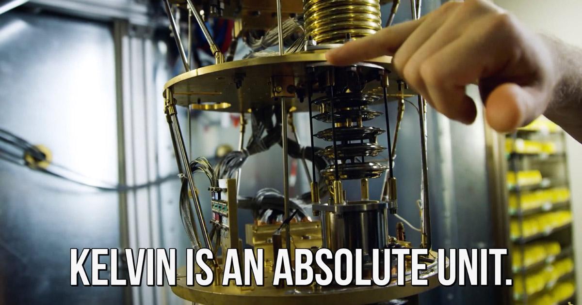 Screenshot from Linus Tech Tips Quantum Computing video