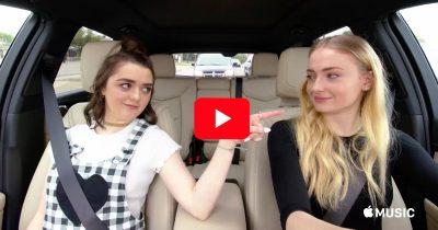 Maisie Williams and Sophie Turner on Carpool Karaoke