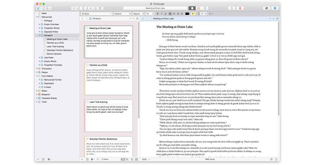 Scrivener 3 for the Mac
