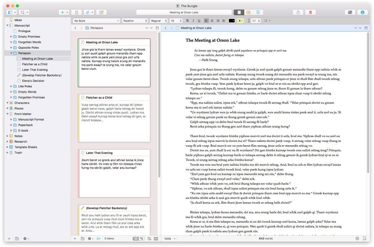Scrivener 3 for Mac Screenshot