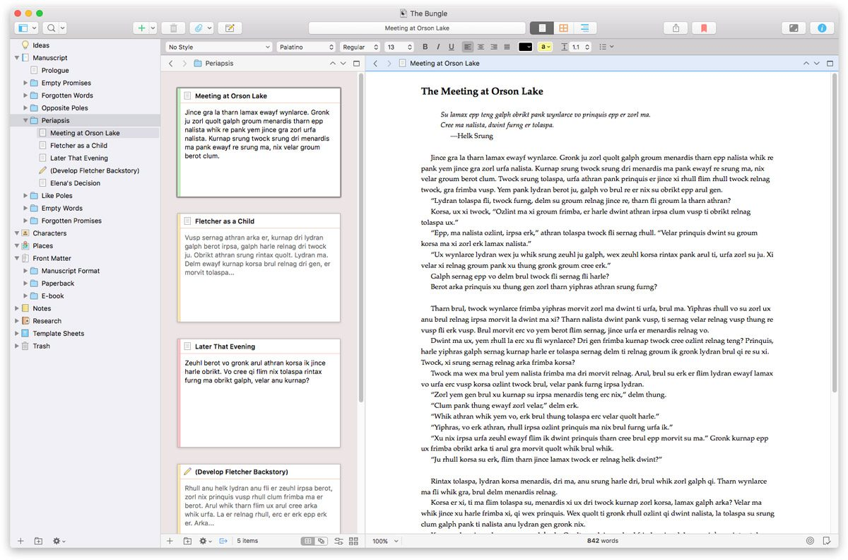 Scrivener 3 for Mac Screenshot