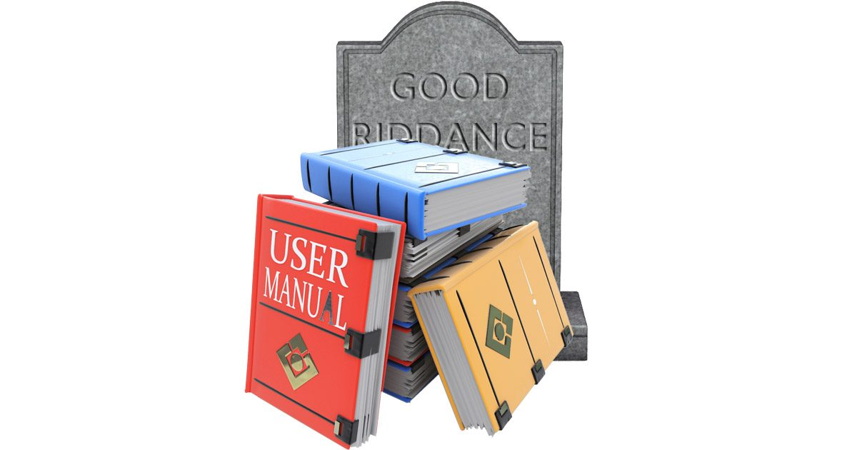 Death knell for printed manuals