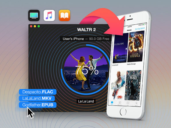 Wirelessly Transfer Music, Videos, PDFs and More to Your Apple Devices Without iTunes: $19