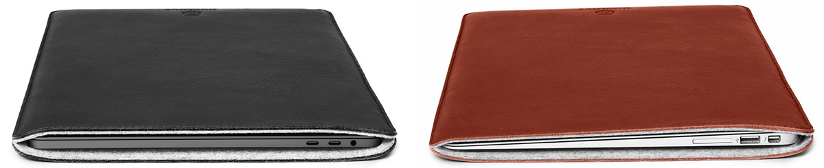 Leather MacBook Sleeves from Woolnut