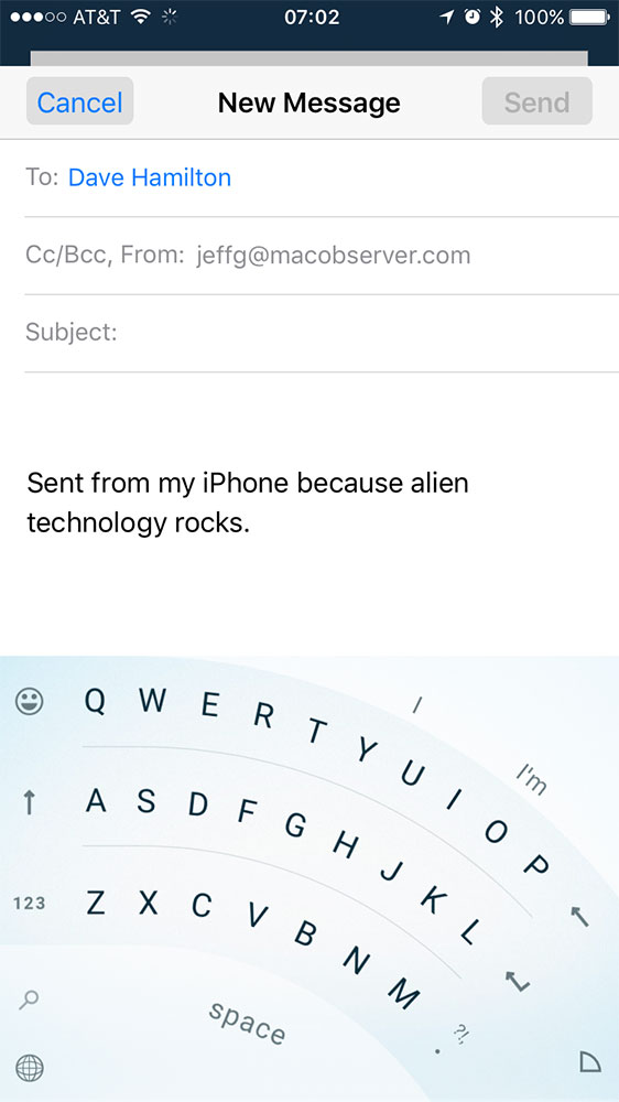 Arc Mode for Word Flow on iPhone