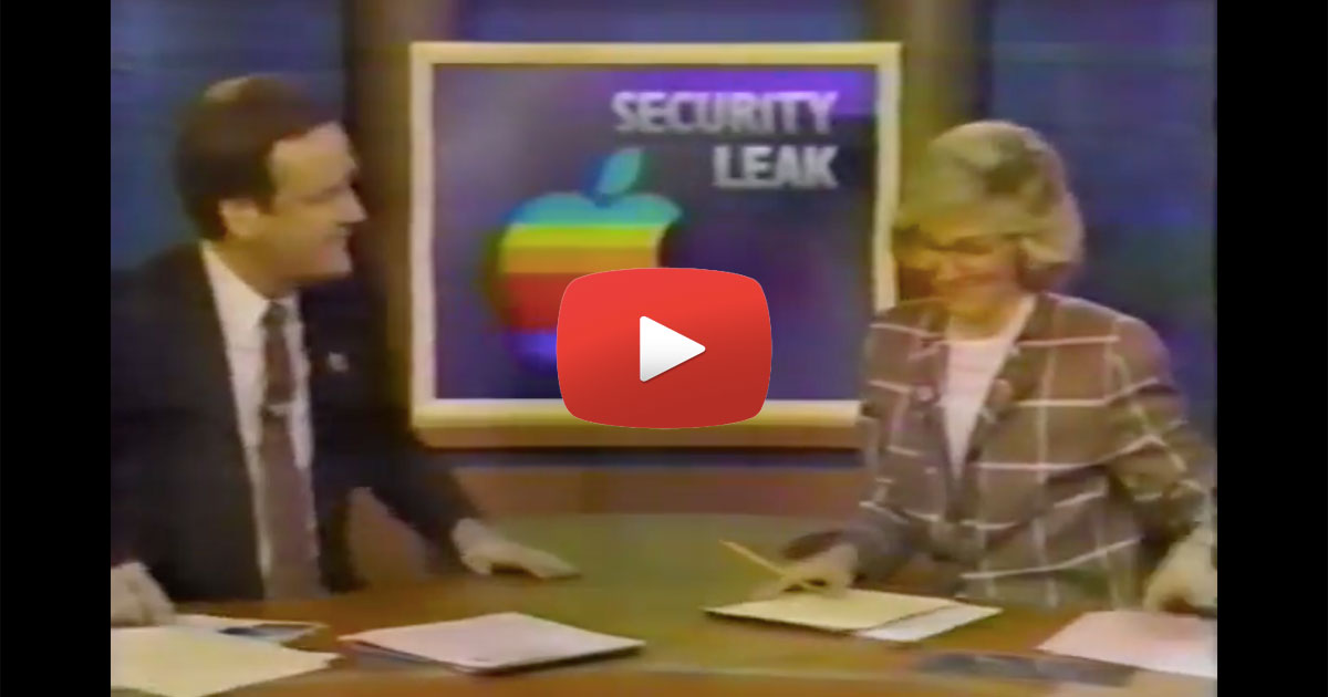 Screenshot from a 1988 Apple news story about a leak