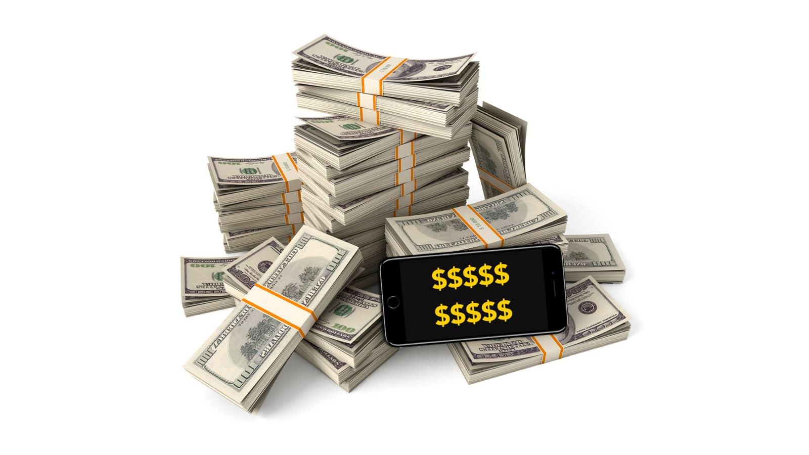 Generic image of Apple's U.S. debt with cash.