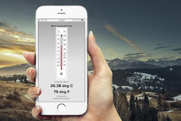 usefulness of arduino - a temperature sensor