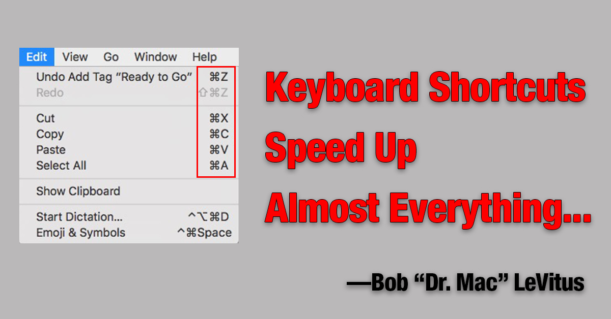 Mac Keyboard Shortcuts Speed Up Almost Everything The Mac Observer