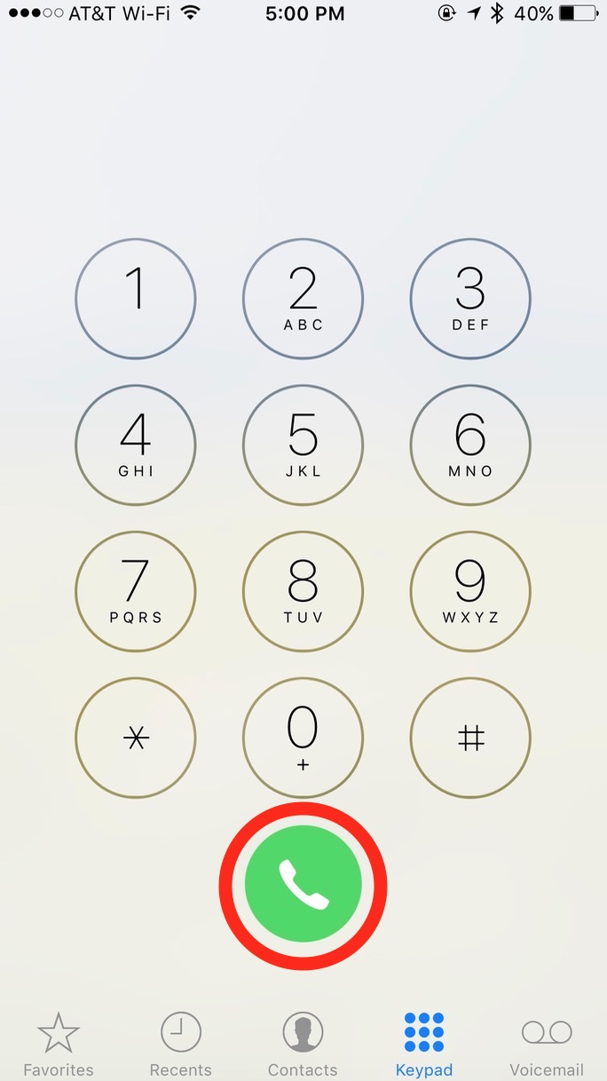 The Green Button on the iPhone keypad lets you recall the last number you dialed