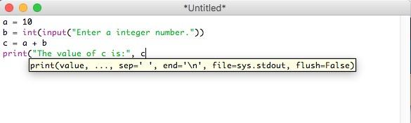The IDLE edit window.