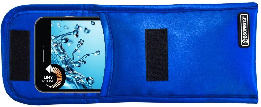 Absorbits Wet Phone Rescue Pouch for Home Smartphone Drying