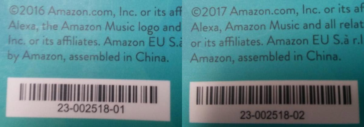 Amazon Echo Serial Numbers