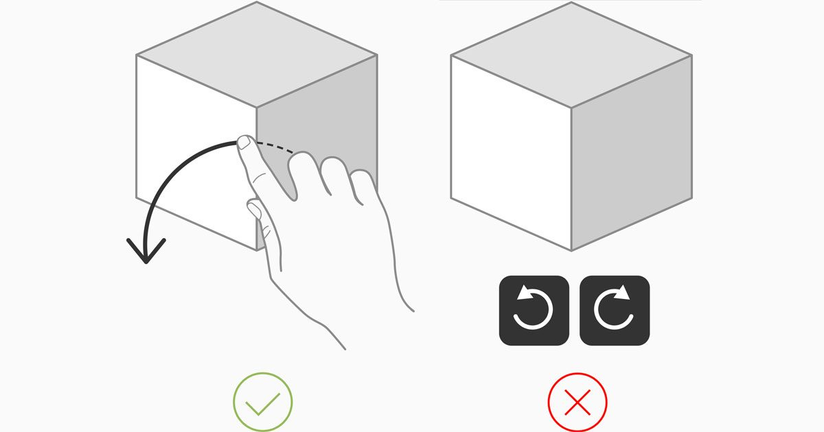 Two example images from Apple's AR Guidelines