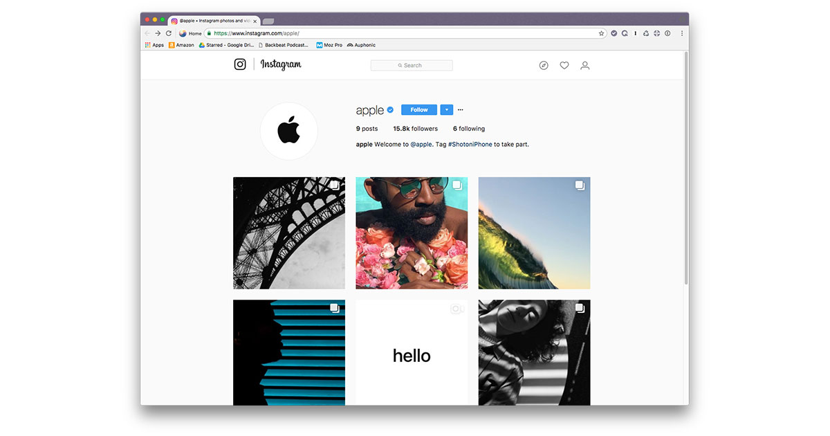 Apple's New Instagram Account Showcases iPhone Photography