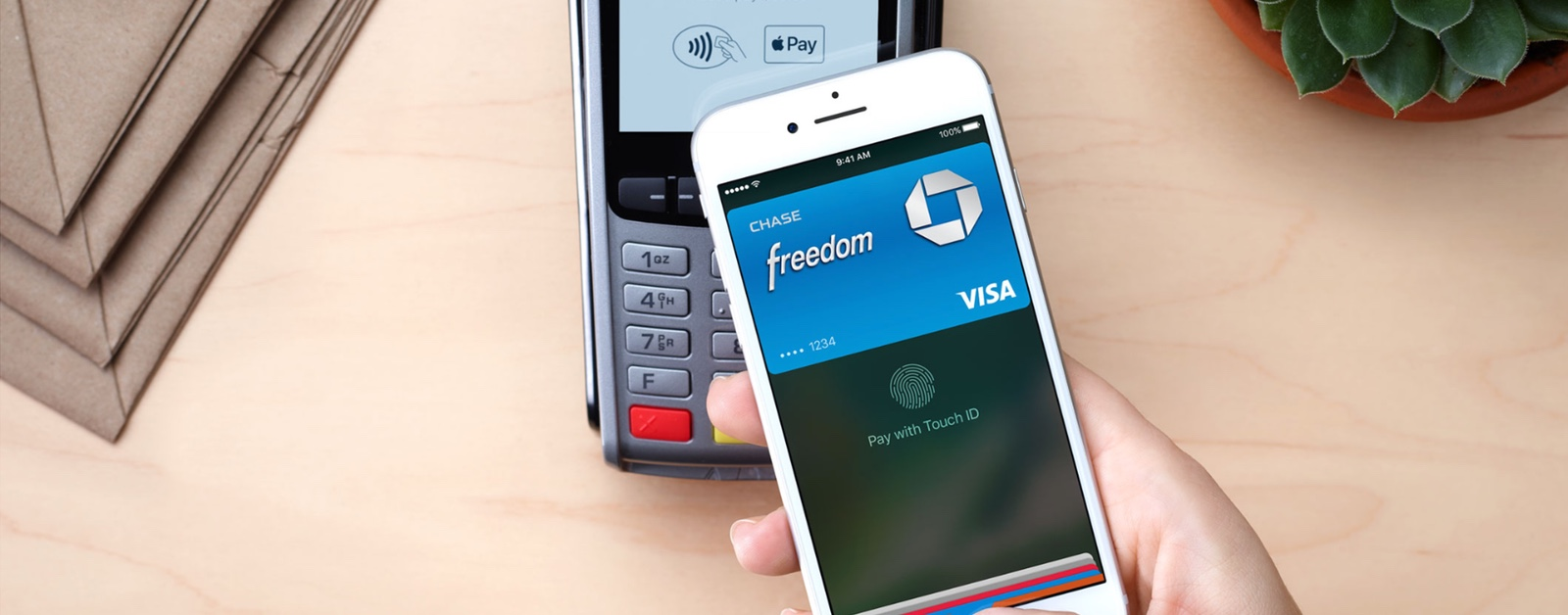 Image of person using Apple Pay. Polish Apple Pay Use Has Already Skyrocketed.
