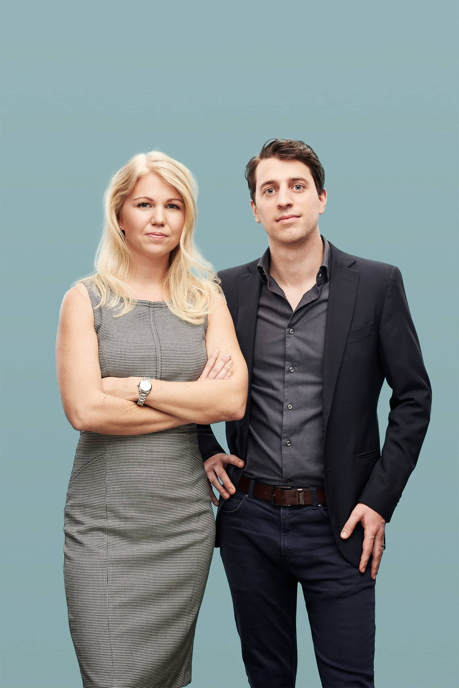 Co-founders of Natural Cycles birth control app Dr. Raoul Scherwitzl and Dr. Elina Berglund.