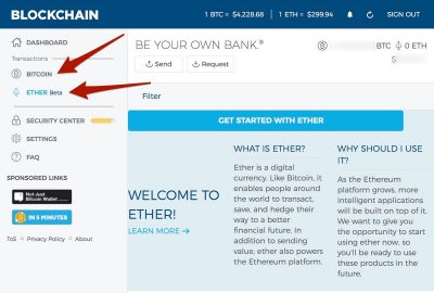 Blockchain.info Wallet with Bitcoin and Ethereum