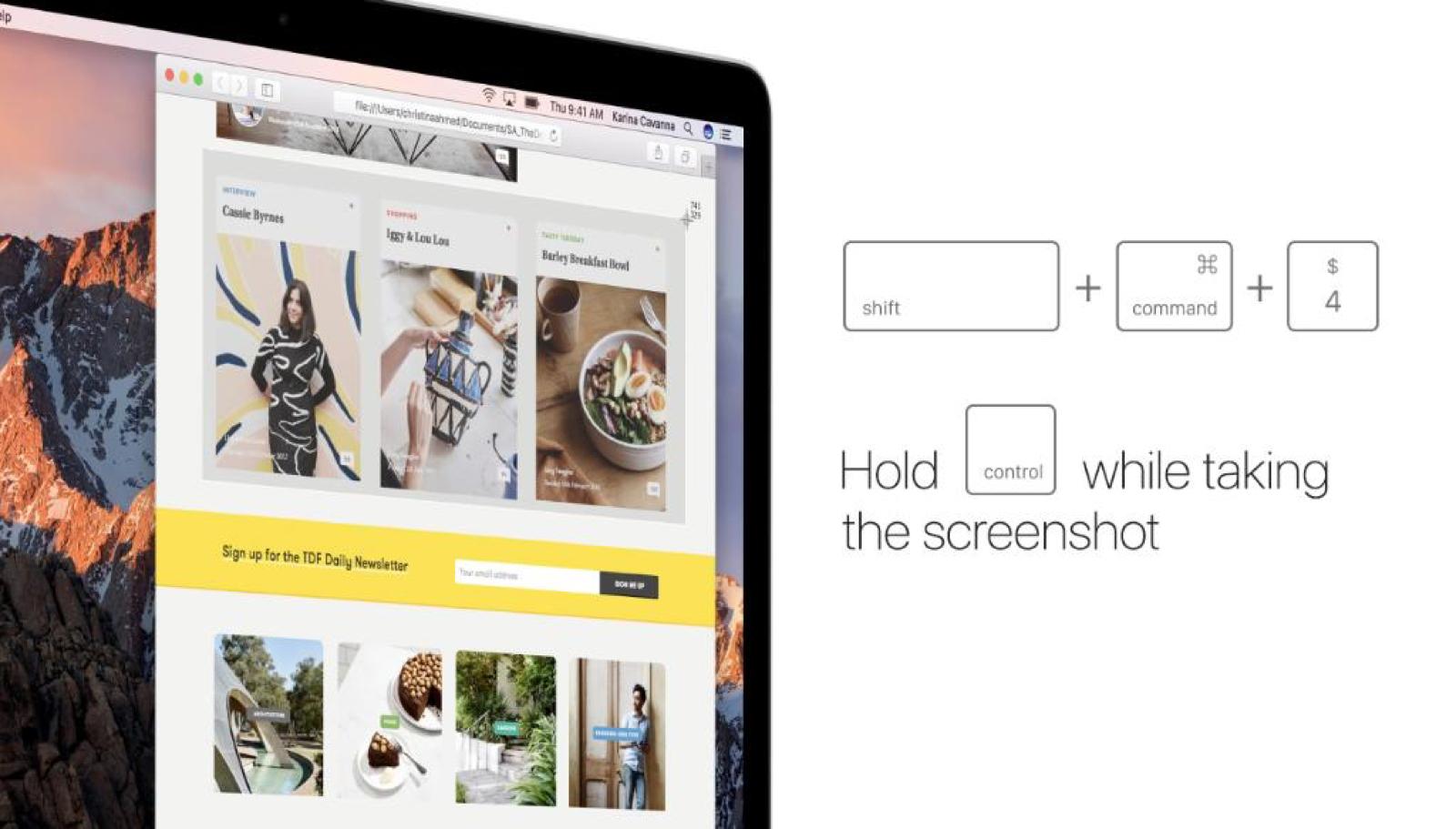 Directly paste screenshots using keystrokes.