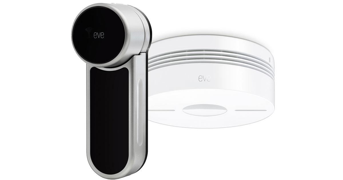 Elgato Eve Door Lock and Smoke Detector with HomeKit support